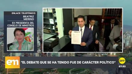 """Beatriz Merino sobre publicidad estatal: """"Se ha ido de la libertad absoluta a la prohibición absoluta"""""""
