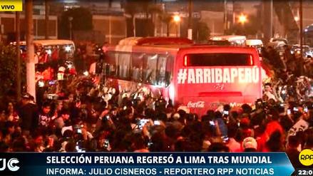 En Vivo | La Selección Peruana regresó al país tras participar en Rusia 2018