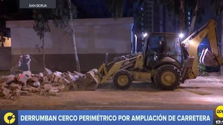 Derrumban el cerco perimétrico de un colegio para ampliar la Panamericana Sur