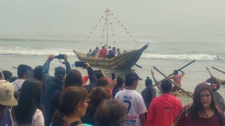 Pescadores celebran día de San Pedrito en Huanchaco