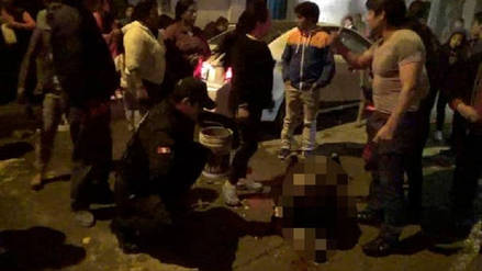 Mujer atacada en Cajamarca se encuentra en estado de shock y con 90% del cuerpo quemado