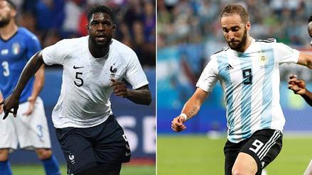 Gonzalo Higuaín vs Samuel Umtiti, el imperdible duelo en el área francesa en Rusia 2018