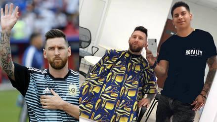 Barbero que le cambió el look a Messi: