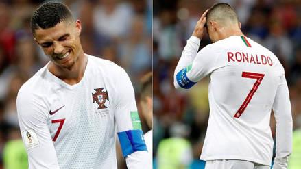 Así se lamentó Cristiano Ronaldo tras la eliminación de Portugal de Rusia 2018