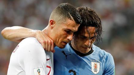 El gesto de Cristiano Ronaldo con Edison Cavani