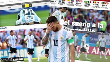 Así reaccionó la prensa mundial tras la eliminación de Argentina