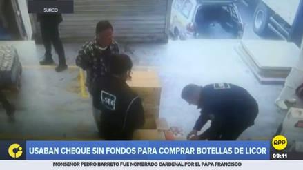 La Policía arrestó a dos delincuentes que intentaron estafar a un supermercado de Surco