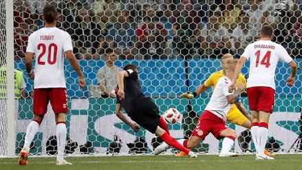 Dos goles antes de los 5 minutos se anotaron en el Croacia vs. Dinamarca