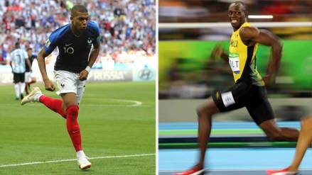 ¡Un rayo! Kylian Mbappé superó la velocidad de Usain Bolt