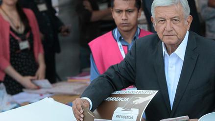 López Obrador, el candidato presidencial favorito en México emitió su voto