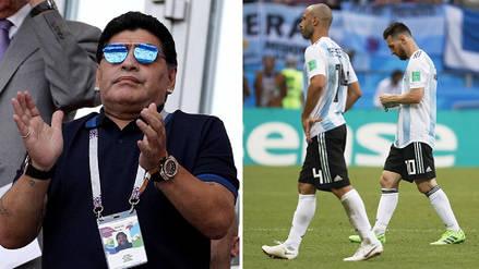 """Diego Maradona: """"Dependemos de Messi y después de Messi somos un equipito más"""