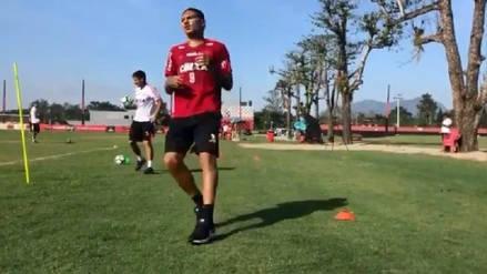 Volvió el '9': Paolo Guerrero se unió a los entrenamientos del Flamengo