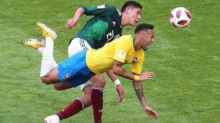 Brasil vs. México, el primer partido de los octavos que no tiene goles en el primer tiempo