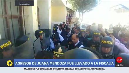 Acusado de quemar a Juana Mendoza fue trasladado a la Fiscalía de Cajamarca