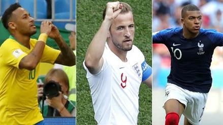 Neymar sumó su segundo gol en la tabla de goleadores, Kane sigue de líder