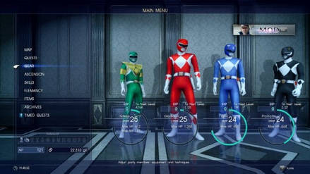Mod de Final Fantasy XV te permite ser un Power Ranger