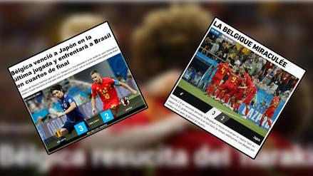 En los ojos del mundo: las portadas para Bélgica y su remontada a Japón