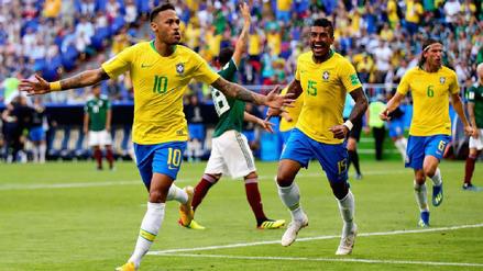 Neymar lideró a Brasil en su pase a los cuartos de final tras vencer 2-0 a México