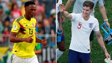 Colombia vs. Inglaterra: Yerry Mina y John Stones, lucha de cabeceadores de área