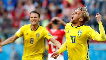 Suecia derrotó a Suiza y avanzó a los cuartos de final de Rusia 2018