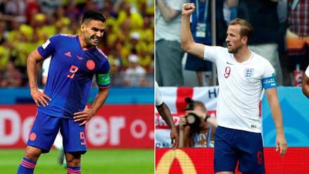 Colombia vs. Inglaterra: Radamel Falcao versus Harry Kane, el duelo de '9's en el Mundial Rusia 2018