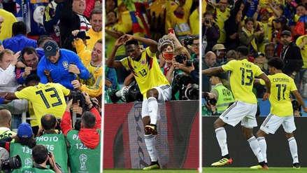 El eufórico festejo del agónico gol de Colombia ante Inglaterra