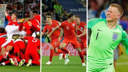 La emoción de los jugadores de Inglaterra tras el triunfo ante Colombia