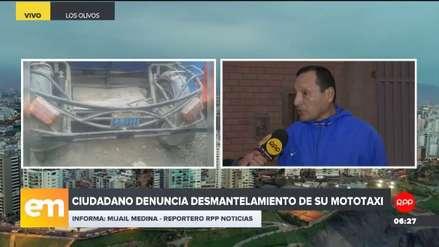 Ciudadano denunció que su mototaxi fue desmantelado en el depósito municipal de Los Olivos