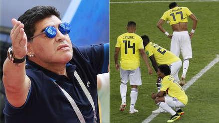 """Maradona indignado por la eliminación de Colombia: """"Vi un robo monumental en la cancha"""""""