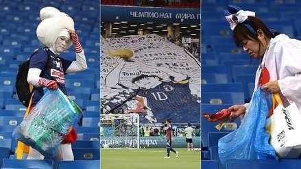 El civismo de los hinchas de Japón asombra en el Mundial, pero en su país es una rutina