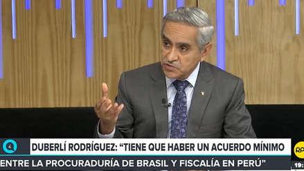 Rodríguez: Tiene que haber un acuerdo mínimo entre Procuraduría y Fiscalía en caso Lava Jato