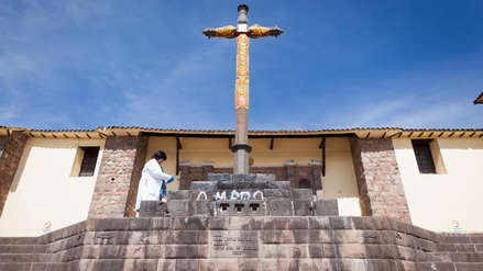 Escolares implicados en atentado al patrimonio cultural en Cusco