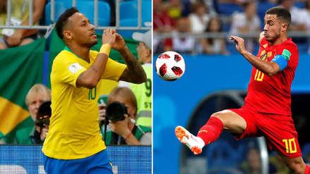 Neymar vs Hazard, el duelo de figuras que nos regala el choque entre Brasil y Bélgica