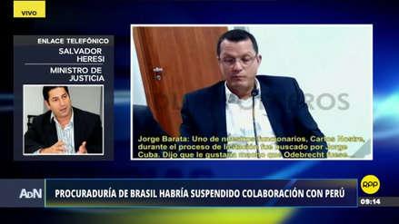 """Heresi confía en que la investigación del caso Lava Jato """"no se va a caer"""""""