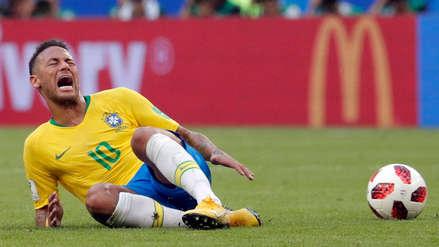 Neymar sumó 14 minutos tirado en el pasto durante el Mundial