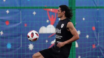 Edinson Cavani y el entrenamiento especial para jugar ante Francia