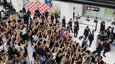 Así fue el multitudinario recibimiento a la Selección de Japón