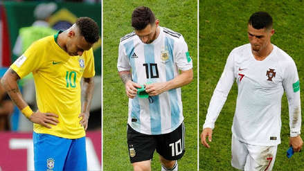 Rusia 2018, un Mundial de desilusiones para Lionel Messi, Neymar y Cristiano Ronaldo