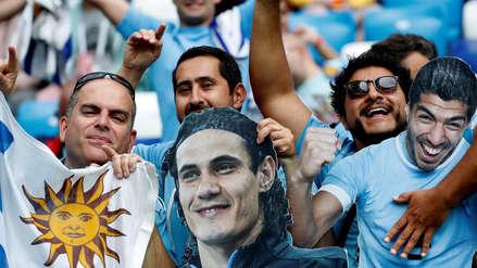 Uruguay vs. Francia: hinchas llegaron con máscaras y coloridos atuendos al estadio Nizhni