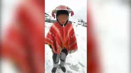 Niño cusqueño pidió ayuda al presidente Vizcarra ante las bajas temperaturas
