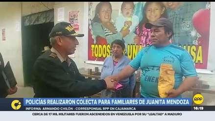 Policía Nacional de Cajamarca realizó colecta para apoyar a Juanita Mendoza