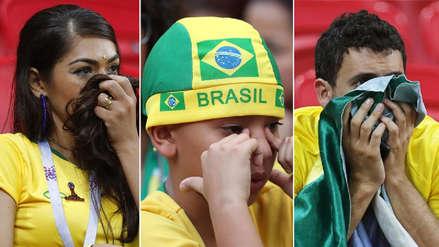 El sufrimiento de los hinchas de Brasil tas perder ante Bélgica