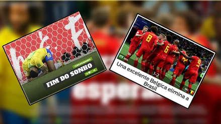 Brasil y la eliminación ante Bélgica en las tapas del mundo