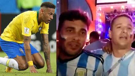 Hinchas argentinos se burlaron de Neymar al ritmo de Bella Ciao