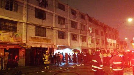 Un incendio alertó a los vecinos del mercado Matute en La Victoria