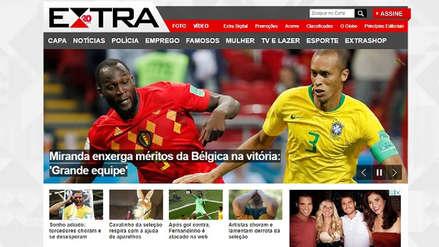 Las portadas digitales tras la eliminación de Brasil en cuartos de Rusia 2018
