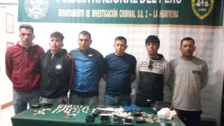 Policía desarticuló tres bandas criminales y detuvo a 13 personas en Lima