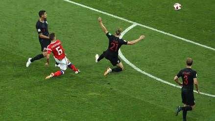 Denis Cheryshev anotó un golazo desde fuera del área ante Croacia