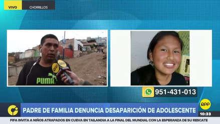 Un padre denunció la desaparición de su hija de 15 años en Chorrillos