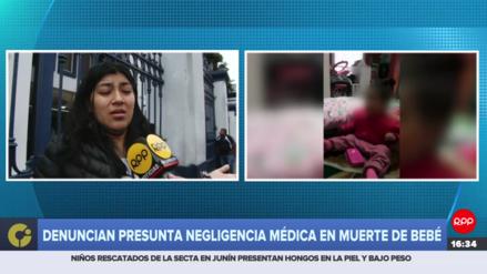 Denuncian presunta negligencia médica en fallecimiento de bebé de nueve meses